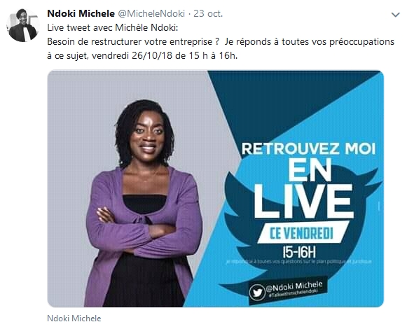 Invitation Twitter Michele NDOKI